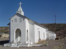 This is one of the oldest churches in the county, located in Cuchillo, NM, which, according to the last count has a population of 36.