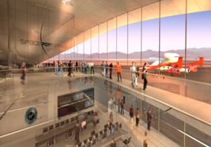 Spaceport America is in the process of being built in Engle, NM, 28 miles away.